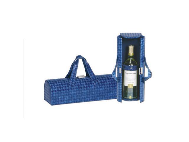 Picnic Plus Carlotta Clutch Wine Bottle Clutch Houndstooth Navy