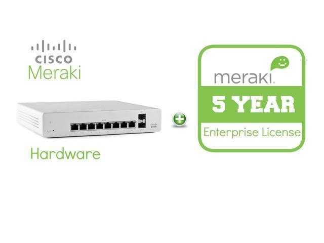 Cisco Meraki Cloud Managed Switch MS220-8 includes 5 Year Enterprise License