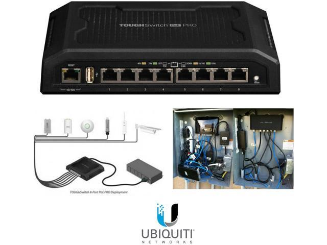 Ubiquiti TS-8-PRO 8-Port TOUGHSwitch PoE PRO Gigabit Switch 150W Power 8 devices