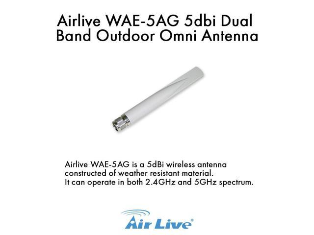 Airlive - WAE-5AG 5dbi Dual Band Outdoor Omni Antenna Male N-Type connector