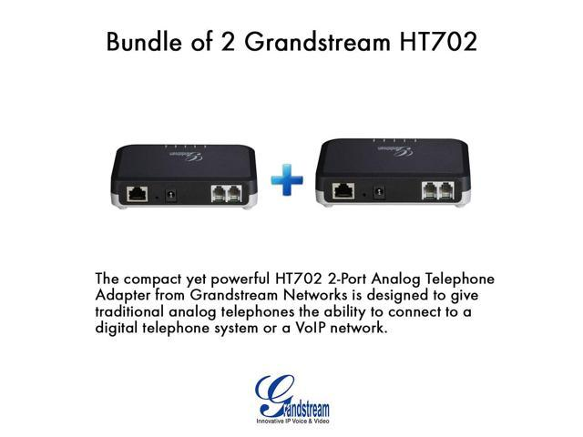 Grandstream HT702 (Bundle of 2) HandyTone 702 2-port IP ATA analog Phone adapter