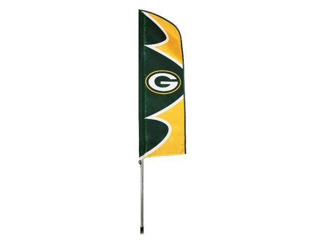 """Party Animal Green Bay Packers Swooper Flags - United States - 42"""" x 13"""" - Durable, Weather Resistant, UV Resistant, Lightweight, ..."""