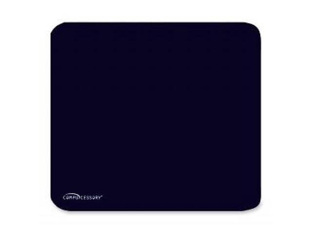 Compucessory Economy Mouse Pad, Nonskid Rubber Base, 9-1/2x8-1/2, Black