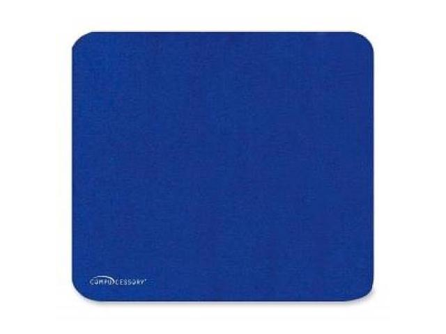 Compucessory Economy Mouse Pad, Nonskid Rubber Base, 9-1/2x8-1/2, Blue