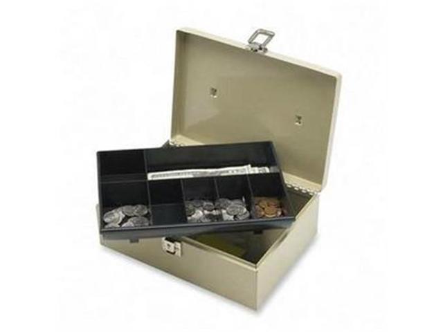Sparco Products 15501 Cash Box, w/ Latch Lock,7 Cmpmnts, 11
