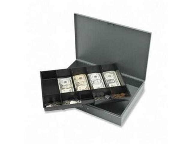 Sparco Products 15500 Cash Box,w/ 2 Keys,10 Compartments,15-2/5