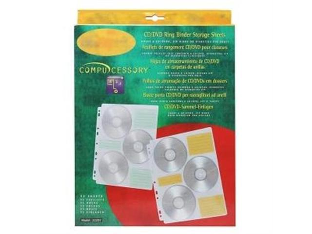 CD Media Binder Storage Pages 25 Refill Pages/PK