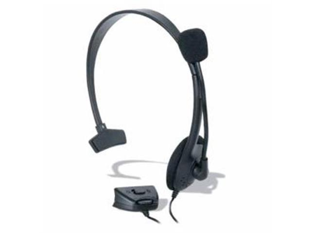 "dreamGEAR DG360-1711 Headset - Mono - Black - Wired - Over-the-head - Monaural SNR - Semi-open - 72"" Cable"