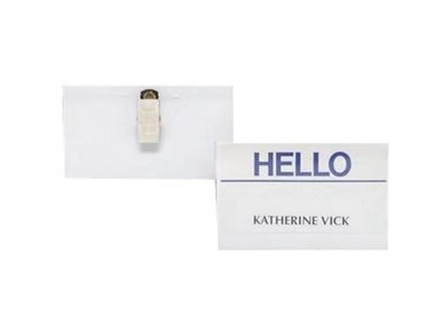 Name Badge Kit Side Load Clip Style 3