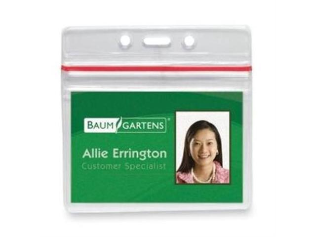 Baumgartens 47830 Sealable ID Badge Holder - Clear