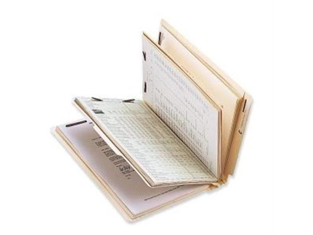 Classificatn Folders w/Fasteners 2 Divider Ltr 10/BX Manila