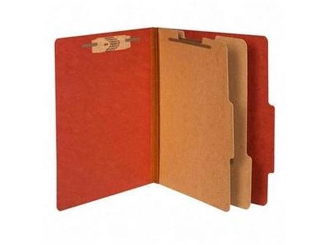 Acco Brands- Inc. ACC15036 Classification Folders- 3in. Exp- Letter- 2 Partition- Earth Red