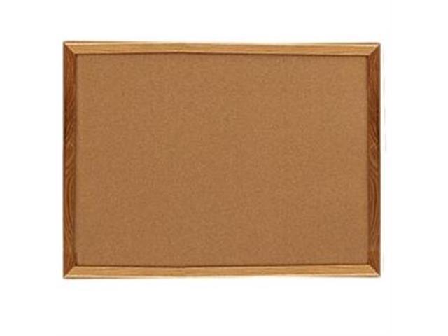 Cork Board 2'x1-1/2' Oak Frame