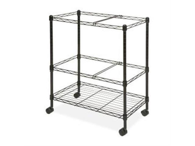 Mobile Filing Cart, 2-Tier, Ltr/Lgl, 26