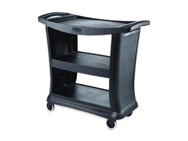 "Rubbermaid 9T68 Executive Service Cart 3 Shelf - 300 lb CapacityPlastic - 38.9"" x 20.3""Black"
