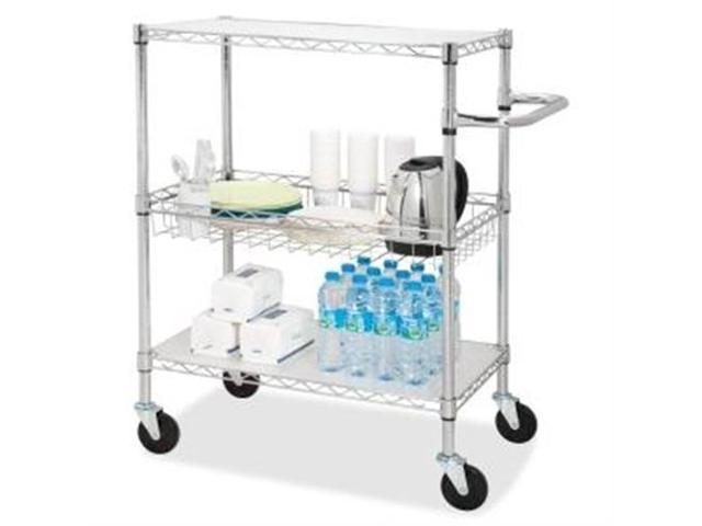 3-Tier Wire Rolling Cart 16