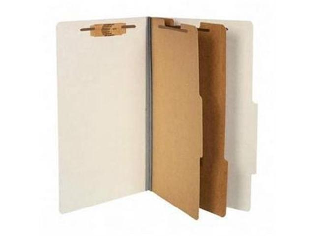 Acco Brands- Inc. ACC16056 Classification Folders- 3in. Exp- Legal- 2 Partition- Mist Gray