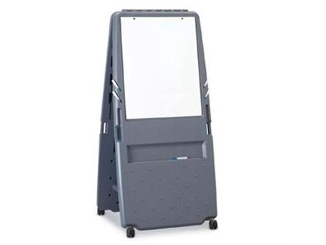 Presentation Flipchart Easel With Dry Erase Surface Resin 33x28x73 Charcoal