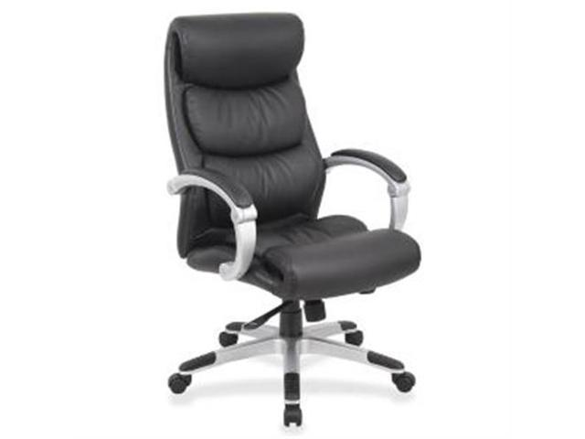 Exec High-Back Chair Leather Flex Arms 27