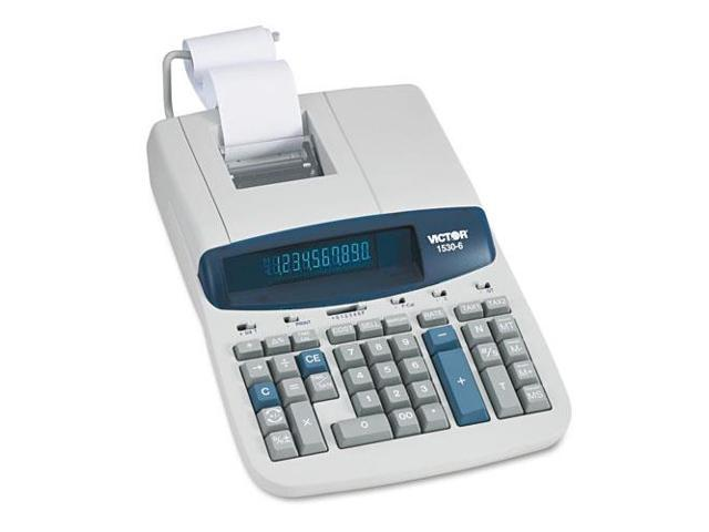 1530-6 Two-Color Ribbon Printing Calculator, Black/Red Print, 5 Lines/