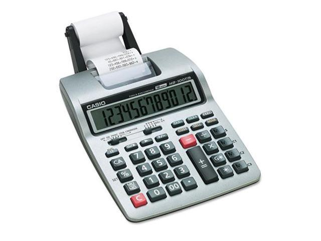 Hr-100Tm Two-Color Portable Printing Calculator, Black/Red Print, 2 Li