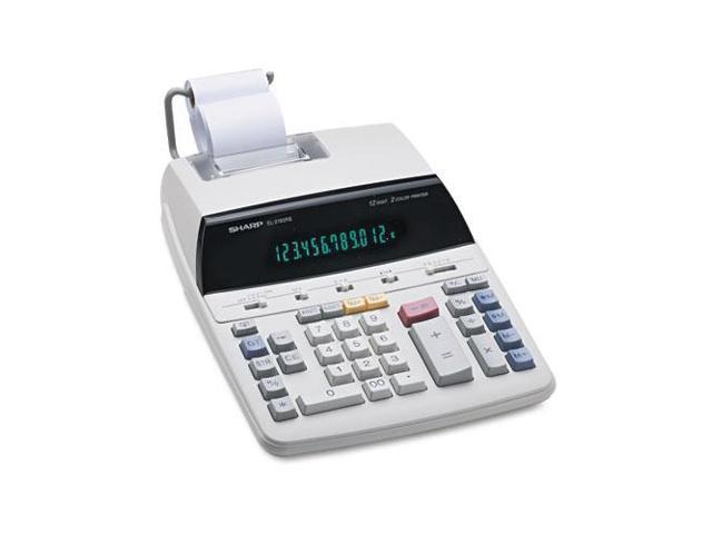 El2192Rii Two-Color Roller Printing Calculator, Black/Red Print, 3 Lin