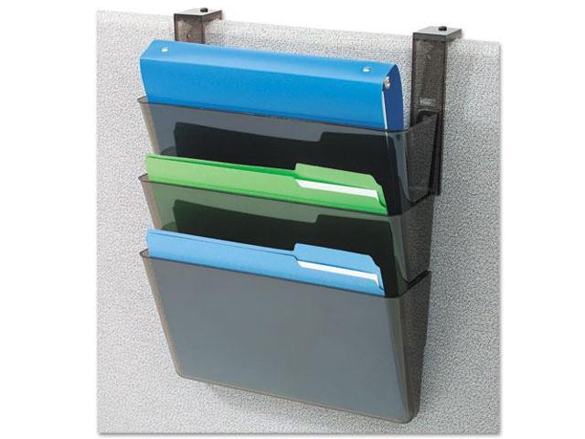 DocuPocket Three-Pocket Partition Set, Plastic, Letter, 13 x 4 x 7, Bl
