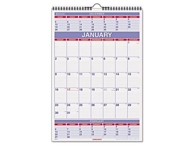 Calendar May Sia : At a glance months wall calendar newegg