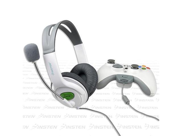 eForCity 2-Pack Headset w/ Mic For  Microsoft Xbox 360 / Xbox 360 Slim plug onto controller, White