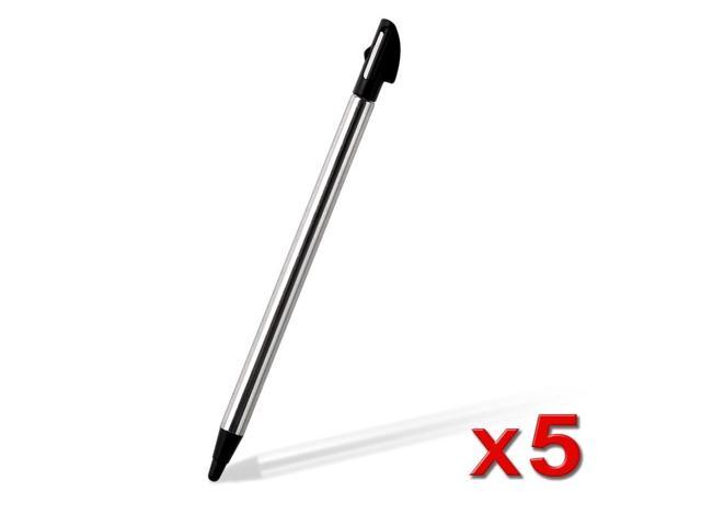 eForCity 5x Black Retractable Touch Screen Stylus Pen for Nintendo 3DS N3DS XL LL