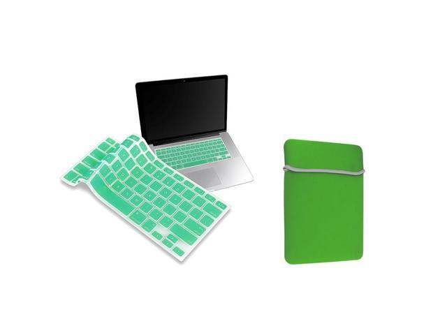 eForCity Ocean Green Laptop Sleeve with Silicone Keyboard Skin Shield compatible with Apple MacBook Pro 13-inch