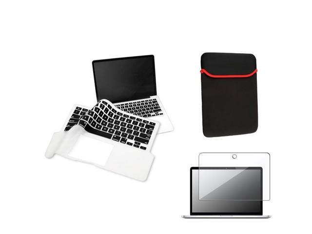 "Black 13.3"" Sleeve Case + 13.3"" Keyboard Full Skin Shield + Clear 13.3"" Screen Protector Compatible with Apple® Macbook Pro ..."