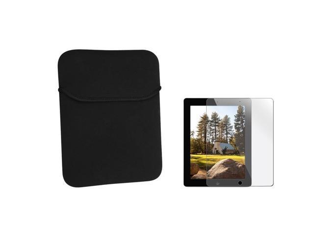 Black Sleeve + Clear Reusable Screen Protector compatible with Apple® The new iPad /ipad 4 / iPad with Retina display