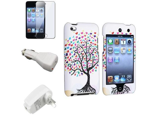 Apple iPod Touch 4th Gen Case, eForCity Love Tree Rubberized Hard Snap-in Case Cover Compatible With Apple iPod Touch 4th ...