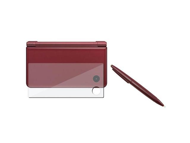 eForCity Screen Film Protector + Wine Red Touch Screen Stylus Pen Compatible With Nintendo LL DSi XL