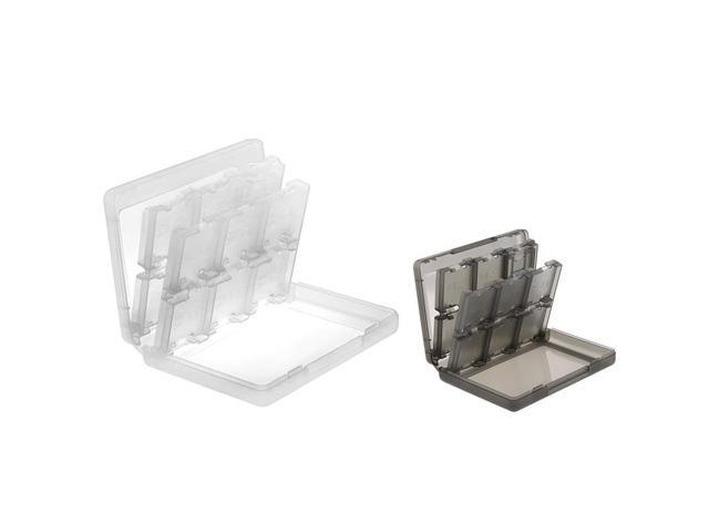 2 packs of 28-in-1 Game Card Cases - White, Smoke for Nintendo 3DS