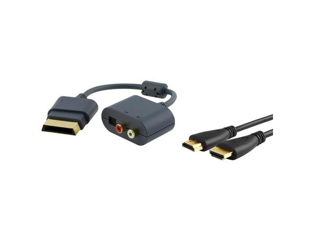 eForCity Compatible With Xbox 360 Slim HDTV 1080p HD Optical RCA Audio Adapter+Hdmi Cable 3ft