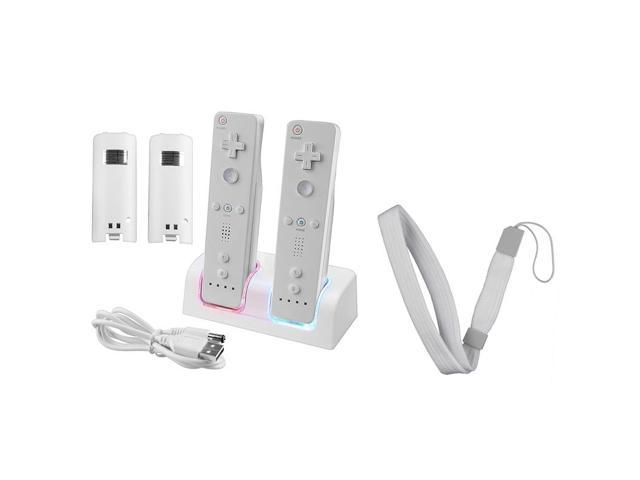 Dual Remote Controller Charger + 2 x 2800 Battery + Gift for Nintendo Wii