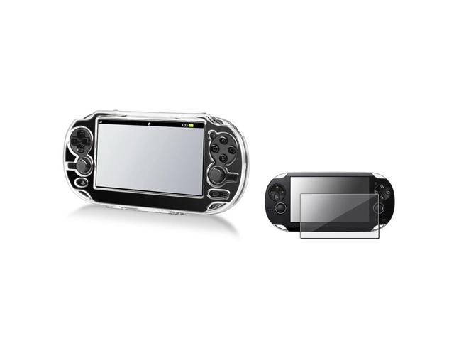 Snap on Clear Crystal Transparent Hard Case + Screen Protector for Sony Playstation PS vita