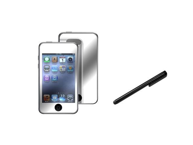 eForCity Mirror Screen Protector +Black Universal Touch Screen Stylus Compatible With Apple® iPod Touch 1st Generation, 2nd ...