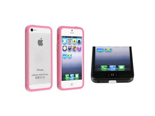 Apple iPhone 5/5S Case, eForCity TPU Rubber Candy Skin [Anti-Shock] Bumper Case Cover Compatible With Apple iPhone 5/5S, ...