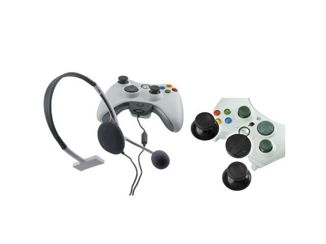 eForCity Controller Thumb 2 x Joysticks, 1 x D-Pad with Headset Compatible with Microsoft Xbox 360 / Xbox 360 Slim