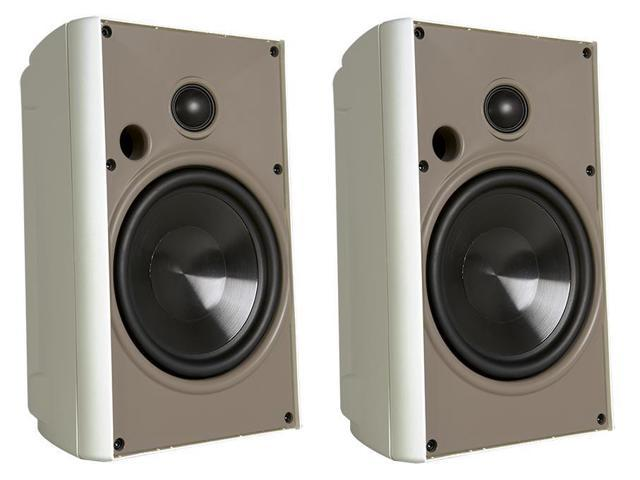 """Proficient Audio AW525 5.25"""" 2-way Compact Indoor/Outdoor Stereo Speaker - Pair (White)"""
