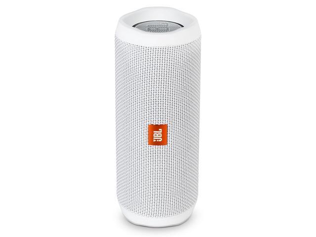 JBL Flip 4 Portable Waterproof Bluetooth Speaker (White)