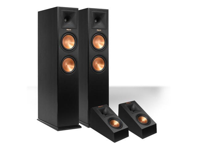 Klipsch RP-260F Reference Premiere Floorstanding Speaker with RP-140SA Add-On Dolby Atmos Enabled Elevation Speakers (Black)