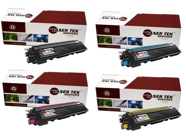 Laser Tek Services® Brother TN210 4 Pack (TN210BK, TN210C, TN210M, TN210Y) Compatible Replacement Toner Cartridges