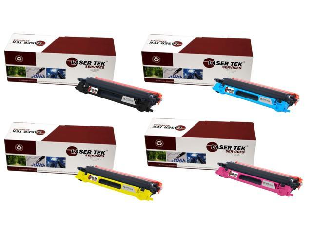 Laser Tek Services® Brother TN115 4 Pack (TN115BK, TN115C, TN115M, TN115Y) Compatible Replacement Toner Cartridges