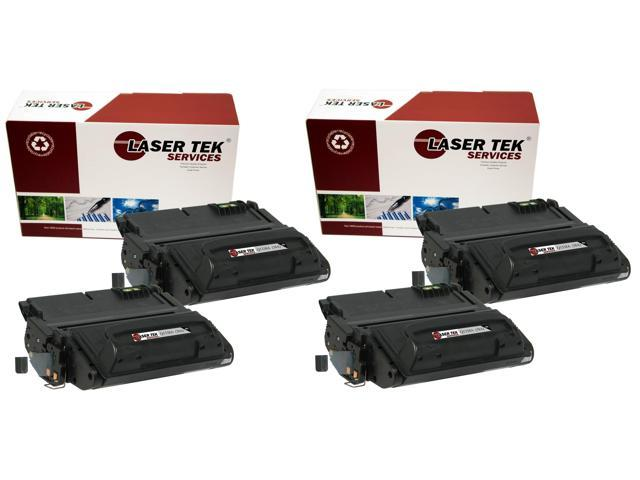 Laser Tek Services ® HP Q1338A (38A) 4 Pack Premium High Yield Compatible Replacement Toner Cartridges