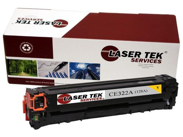 Laser Tek Services® Replacement HP CE322A (128A) Yellow High Yield Toner Cartridge