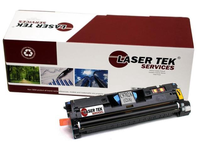 Laser Tek Services® Replacement HP C9702A (121A) Yellow High Yield Toner Cartridge